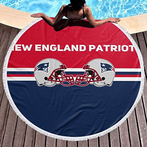 Kanteband New England Patriots Round Soft Beach TowelAdult Quick Dry Towel for Gym Beach 59 in (New England Patriots Yoga Mat)