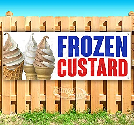Amazon.com: Frozen Custard - Cartel de vinilo resistente con ...