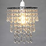 Ceiling Light Shade Crystal Chandelier Hanging Pendant Lamp Shade for Any Room (Chandelier)
