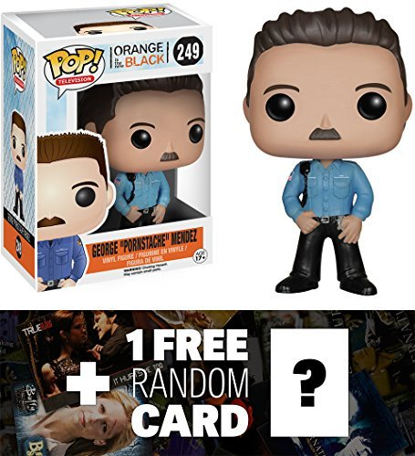George Pornstache Mendez: Funko POP! x Orange Is the New Black Vinyl Figure + 1 FREE American TV Themed Trading Card Bundle [57930] ()