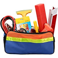 Car Emergency Kit Roadside Assistance Jumper Cables Life Hammer, Safety Reflective Triangle Snow Shovel and More