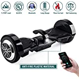 "OFF ROAD Hoverboard Koowheel 7.5"" All Terrain Hoverboard with Bluetooth Speaker and LED Lights,UL2272 Certified Two Wheel Self Balancing scooter for Adults and Kids,App Enabled(12Km/h 220lbs Max)Black"