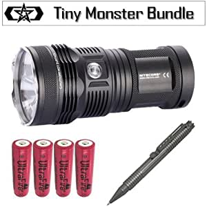 Nitecore TM11 Tiny Monster 2000 Lumens Triple XML Flashlight Outfit