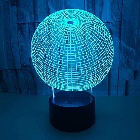 3D Ilusión óptica Lámpara LED Luz Esfera de noche Deco LED ...