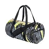 JSTEL Zebra Africa Sports Gym Bag for Women and Men Travel Duffel Bag