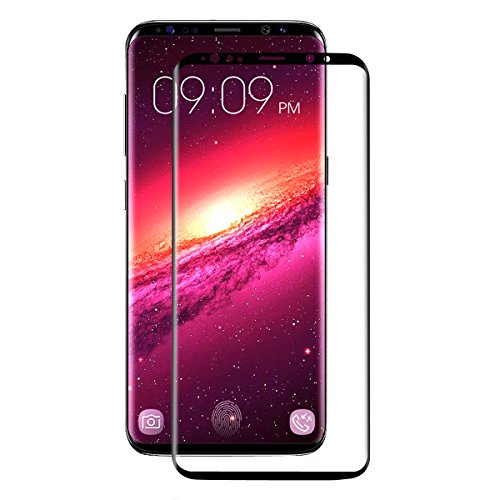 Hat-Prince 0.26mm 9H Surface Hardness 3D Heat Bending Explosion-proof Full Screen Tempered Glass Film for Samsung Galaxy S9 – Black