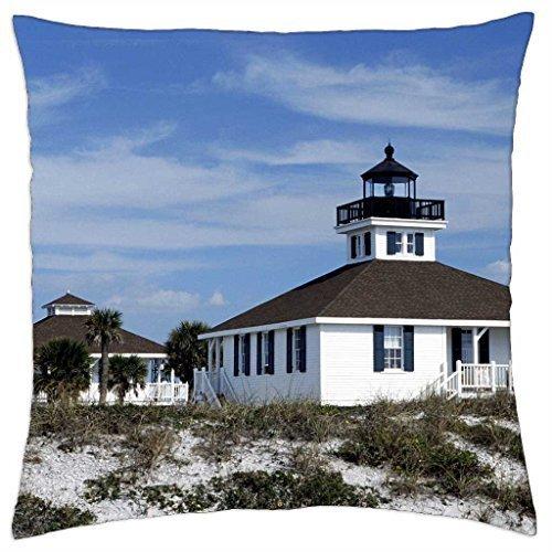 florida old port boca grande lighthouse - Throw Pillow Cover Case (16