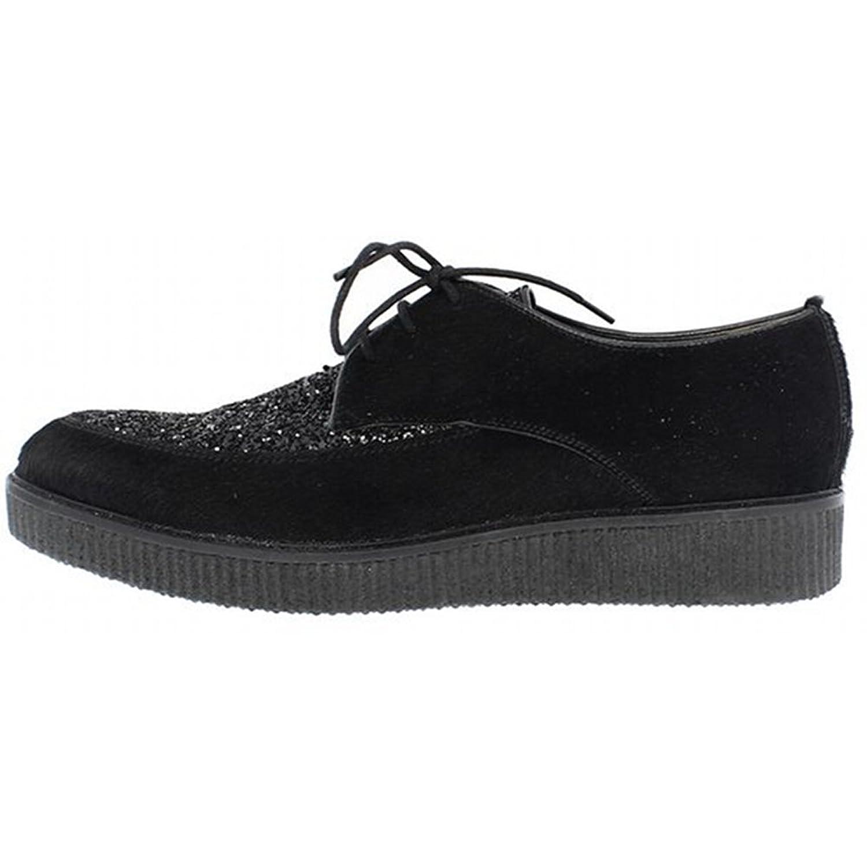 Goldmud - Zapatos de cordones para mujer Negro negro 5