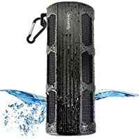 Waterproof Bluetooth Speaker, Alpatronix AX410 3000mAh Portable 12W Stereo Shockproof Wireless Speaker with Built-in Mic & Passive Subwoofer for iPod, Smartphones, Tablets, Laptops & PC - Black