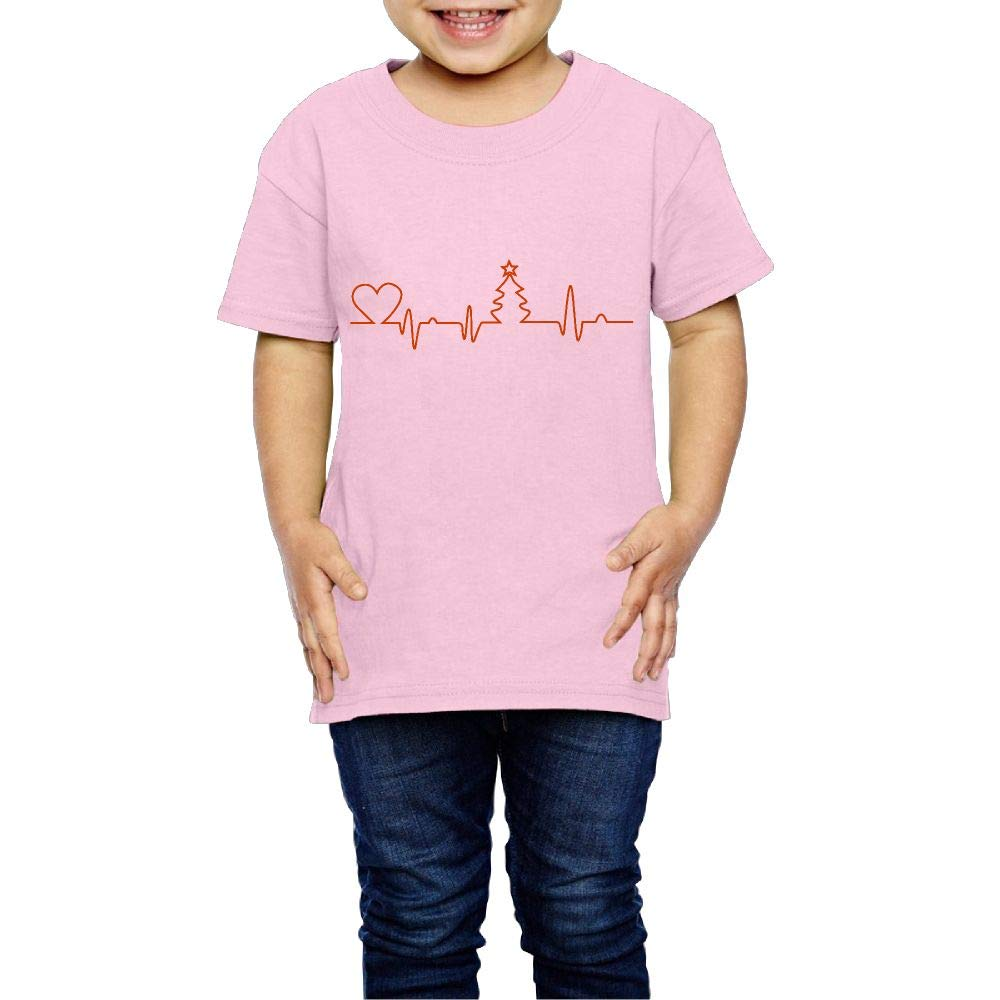 XYMYFC-E Christmas Tree in Heartbeat 2-6 Years Old Boys /& Girls Short-Sleeved T Shirts