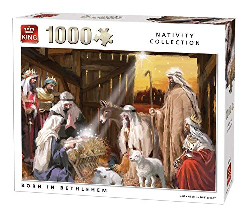 King 5726 Nativity Scene Bethlehem Jigsaw Puzzle 1000-Piece, 68 x 49 cm
