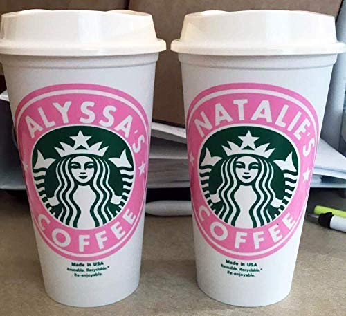 Personalized Starbucks Cups With Lids 16 Ounce Reusable Import It All