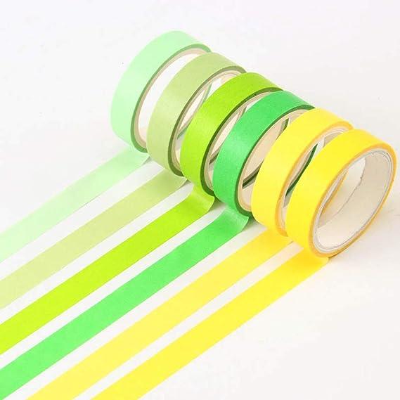 Tarjetas Bricolaje Keleily Washi Tape Set 12 Rollos de Color Natural Washi Tape Cinta Adhesiva Decorativa Suministros de Artesan/ía para Envolver Regalos 3M X 0.9CM -Color Fresco Diario