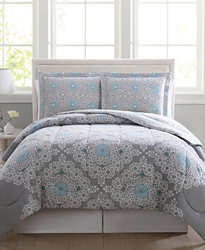 Cassandra Comforter Set - Pem America Cassandra Reversible 3 Pc FULL QUEEN Comforter Set Grey Gray