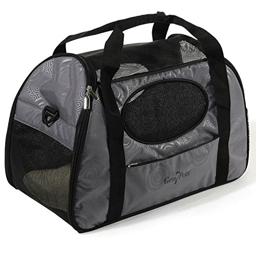 Puerto Rico Airline - Gen7Pets Carry Me Pet Carrier for Dogs and Cats - Easy Portability, Water Bottle Pouch, Zippered Pocket and Fits Under Most Airline Seats