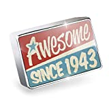Floating Charm Awesome since 1943, Birthday/Year Fits Glass Lockets, Neonblond