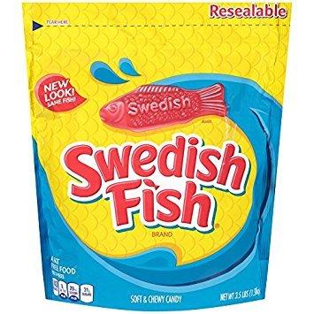 Swedish Fish Soft & Chewy Candy (Original, 3.5-Pound Bulk Bag) - Pack of 6 by Swedish Fish