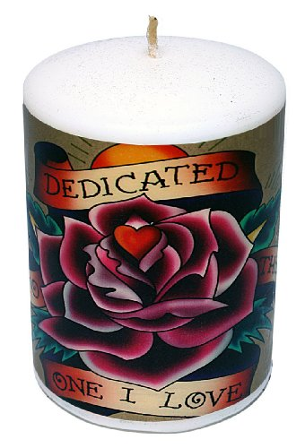 Ed Hardy Candle Unscented 3 by 4 Pillar, Dedicated