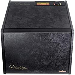 Excalibur 3900B 9-Tray Electric Food Dehydrator with Adjustable Thermostat Accurate Temperature Control Faster and Efficient Drying Includes Guide to Dehydration Made in USA, 9-Tray, Black