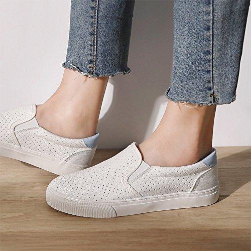 Pigro Sportive Femminile Blue Scarpe Estate Piatto pagnotta Scarpe Sneakers di Espadrillas Scarpe Tela Traspirante Koyi Studente Scarpe Top Low qwz6H64S