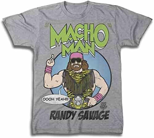 e646fbffe WWE Mens Macho Man Shirt - Macho Man Randy Savage Superstar Tee - World  Wrestling Champion