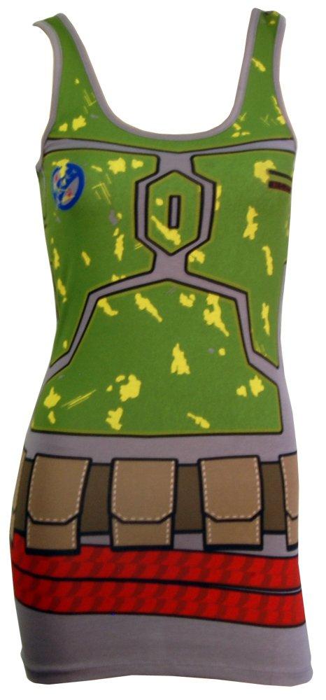 Star Wars I Am Boba Fett Costume Adult Tank Dress Small