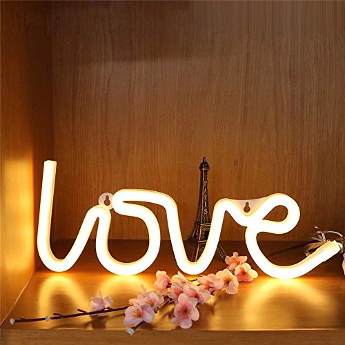 CSKB Neon Light LED Love Sign Decor Light,Marquee Light for Chistmas Wall Décor Battery operated by CSKB