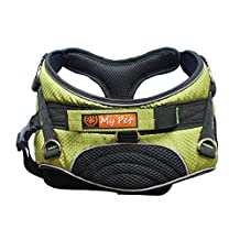 MY PET for Dog Harness Training Walking Soft Support & Rehabilitation Green M