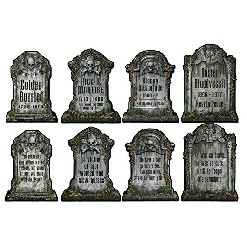 Beistle 01516 Packaged Tombstone Cutouts, Includes 4 Cutouts,