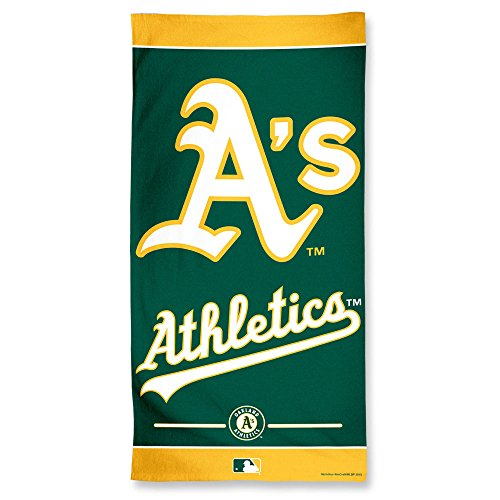 - WinCraft MLB Oakland Athletics Beach Towel, Team Color, One Size