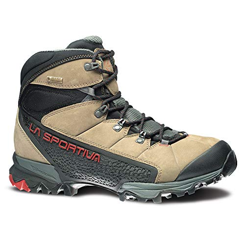 La Sportiva Men's Nucleo High GTX Hiking Shoe, Taupe/Brick, ()