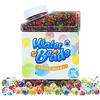Amazon Com Sooper Beads Water Beads Rainbow Mix 8 Oz 20 000 Beads For Orbeez Spa Refill