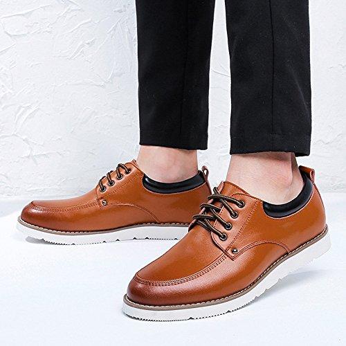 Con Caballeros 2018 Pu Del Para De Fang La Ocasional shoes Zapatos Hombre Oxfords Los Cordones Cuero Pie Brown Planos Hombres Holgazanes Planta Negocio 51wOIqUxw