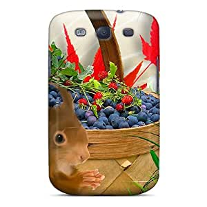 Fashion Protective Autumn Blueberries Case Cover For Galaxy S3