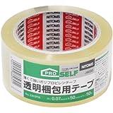 ニトムズ 透明梱包用テープ No.3303 50mm×50m J6030