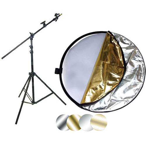 Impact 42'' 5-in-1 Reflector with Lightstand and Holder Kit by Impact