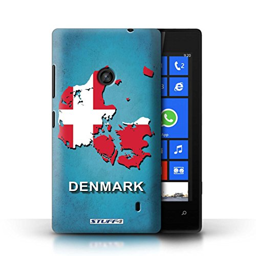 Kobalt® Imprimé Etui / Coque pour Nokia Lumia 520 / Danemark/Danoise conception / Série Drapeau Pays