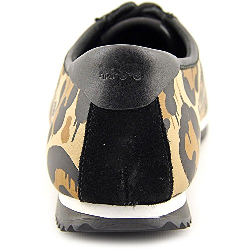 Coach Dames Maanlicht Animal Print Sneaker Naturel / Zwart