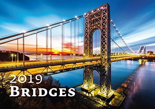 Modern Art Calendar - Calendars 2018 - 2019 Calendar- Architecture Calendar - Poster Calendar - Photo Calendar - Bridges By Helma