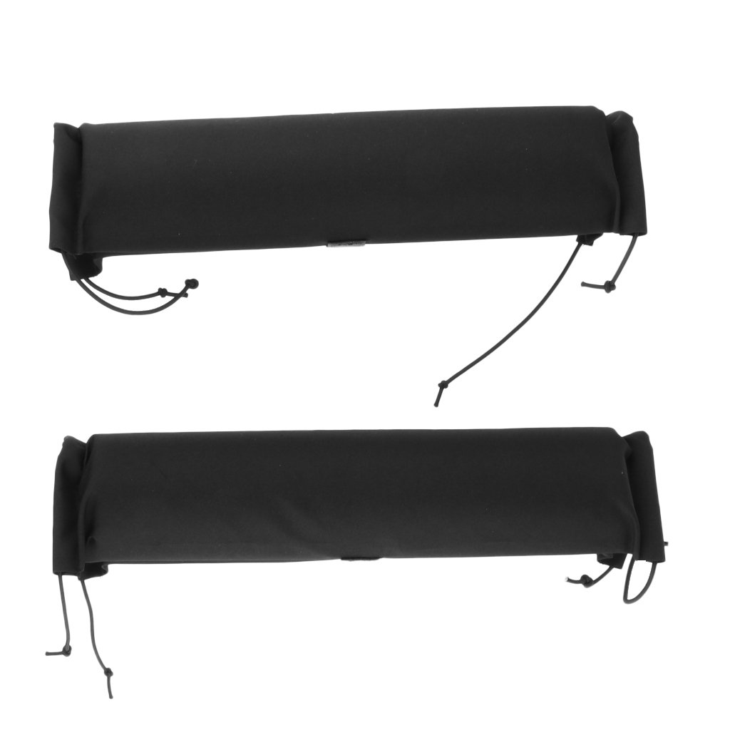 MagiDeal 2Pcs Heavy Duty Durable Soft Padded Car Truck Roof Bar Rack Pads for Kayak Canoe Boat Dinghy Surfboard Ski Snowboard Protection