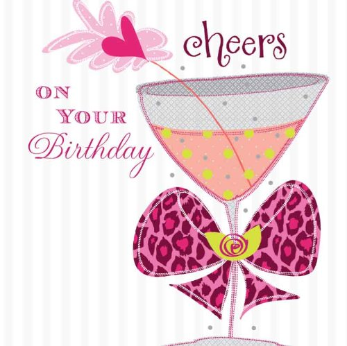 CHEERS ON YOUR BIRTHDAY HANDMADE OPEN BIRTHDAY CARD K13 – Birthday Card for Manager