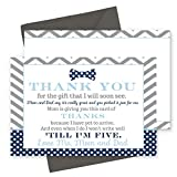 Best Man Thank You Cards - 15 Bow Tie Thank You Cards with Grey Review