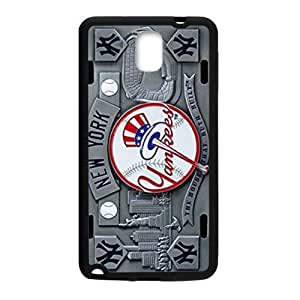 Hoomin Grey Baseball New York Yankees Samsung Galaxy Note3 Cell Phone Cases Cover Popular Gifts(Laster Technology)