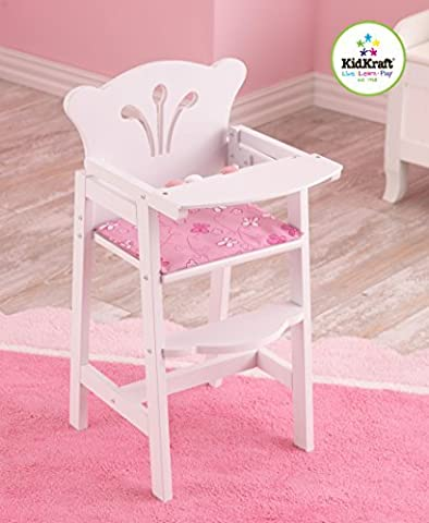 Lil Doll High Chair - White - Doll Furniture High Chair