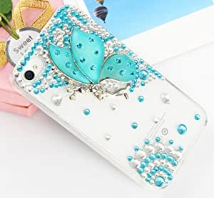 Handmade Luxury Designer Bling 3D Colorful Special Crystal Angle Wing Genius Case Cover For LG Smart Mobile Phones (LG Optimus G Pro E980 F240k F240s F240l, Purple)