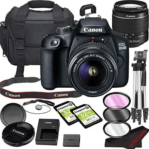 Canon EOS 2000D (Rebel T7) DSLR Camera Bundle with 18-55mm Lens | Built-in Wi-Fi|24.1 MP CMOS Sensor | |DIGIC 4+ Image…