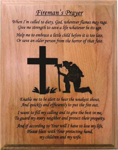 The Fireman's Prayer Poem Plaque - 8