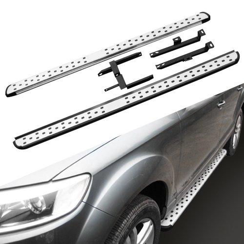 HEKA 2 Pcs Tabla de Correr Plataforma Iboard Side Step para Audi Q7 2016-2018 Nerf Bar