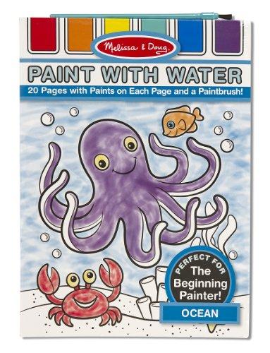 Melissa & Doug Paint With Water Activity Book - Ocean