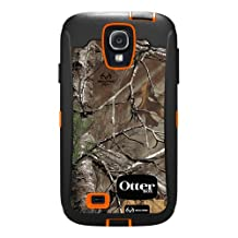OtterBox Defender Series Case and Holster for Samsung Galaxy S4 - Carrier Packaging - Realtree Camo - Xtra Orange